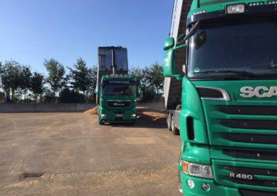 Lettenbichler LKW Lastwagen entladen Biertreber Feuchtfuttermittel