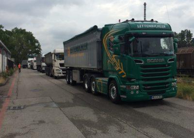 Lettenbichler Lastwagen LKW Kolonne