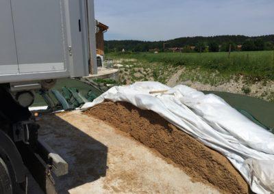 Lettenbichler Schüttgut Biertreber Futtermittel Lastwagen Ladefläche