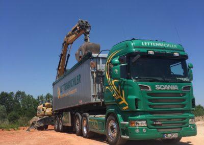 Lettenbichler transport Lastwagen LKW beladen