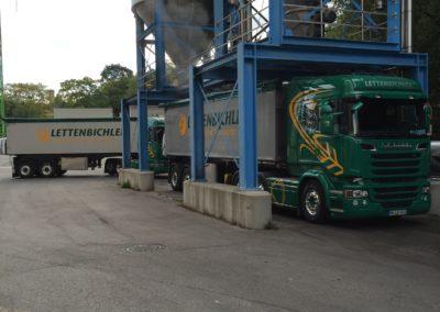 Lettenbichler Lastwagen Anhänger Gespann Silo