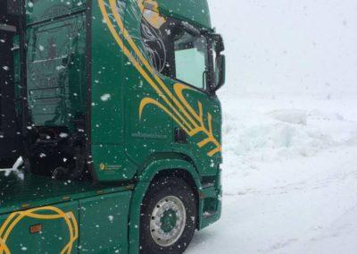 Feuchtfuttermittel LKW Lettenbichler Lastwagen winter schneefall