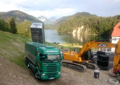Lettenbichler transport Baustelle Bagger Schüttgut