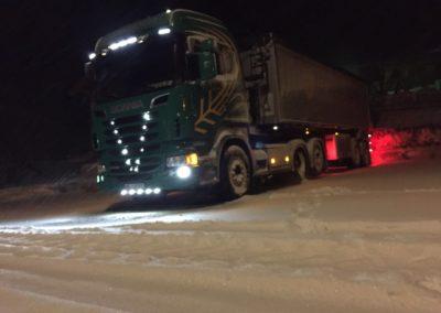 Lettenbichler Lastwagen winter nacht