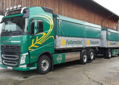 Lettenbichler Futtermittel gespann feuchtfuttermittel Biertreber Lastwagen LKW