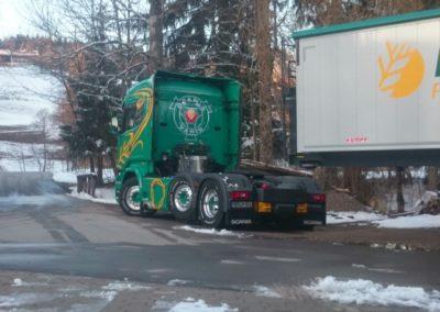 Lettenbichler Lastwagen LKW Anhänger winter