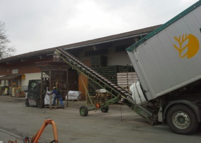 Lettenbichler Feuchtfuttermittel entladen Schüttgut