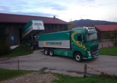 Lettenbichler Schüttgut entladen Hof