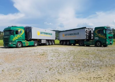 Lettenbichler Futtermittel und transport Lastwägen
