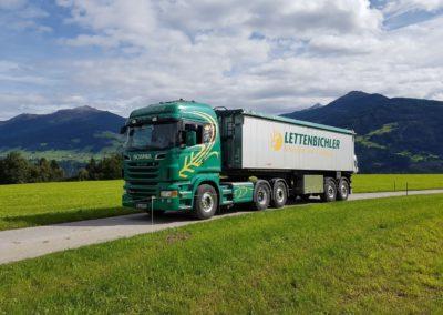 Lettenbichler Futtermittel und transport Lastwagen